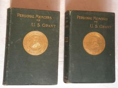 1885, Personal Memoirs of U.S.Grant, 2 Vols, Charles Webster, HB, VG 1st, RARE!! Book Collection, Memoirs, Military, War, Personalized Items, Books, Libros, Book, Book Illustrations