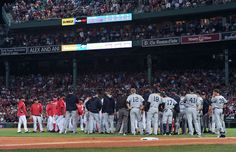 Heated rivalry:    The Boston Red Sox and New York Yankees pile onto the field during the seventh inning on Aug. 9 at Fenway Park. The Red Sox won 5-3.