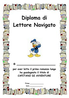 Diploma_di_lettura_3 Social Service Jobs, Social Services, Reading Workshop, Summer Kids, Primary School, Book Art, Classroom, Science, Teaching