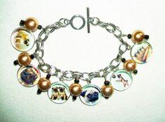 Pug Dogs Charm Bracelet Vintage Images Animal Dog Lover Art Jewelry for You | eBay