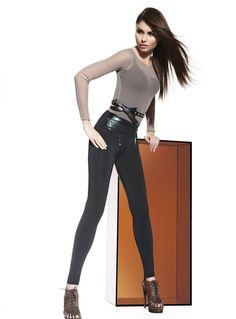 Leggings tregging pantalon moulant noir femme slim simili BAS BLEU NELY S M  L Legging Femme c4c5e9cb362