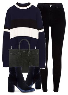 """""""Untitled #6276"""" by laurenmboot ❤ liked on Polyvore featuring River Island, Yves Saint Laurent and Gianvito Rossi"""
