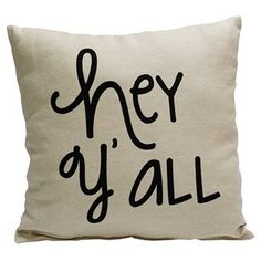 Hey y'all! Add some country charm to your couch with this fun pillow.