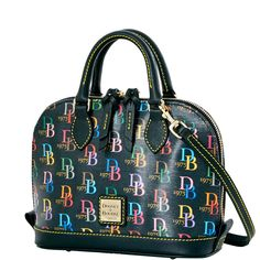 The Bitsy Bag collection celebrates 40 years of Dooney & Bourke by reviving classic collections in a petite version of our classic Zip Zip silhouette. The Bitsy bag is a versatile, mini bag that can be dressed up or down. Wear it as a crossbody during the day, and carry it as a chic top handle bag on nights out.