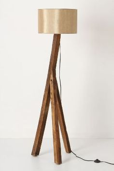 wooden standing lamp
