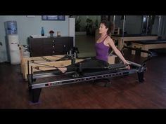 Pilates Reformer Exercises for the Waist & Bra Fat : Pilates & Stretching for Fitness - YouTube