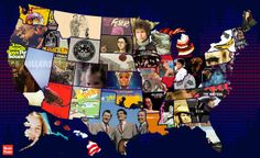 A Map Of The Most Critically Acclaimed Rock Stars From Each State