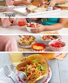 Tacos tinga au poulet en coupes de tortilla #recette