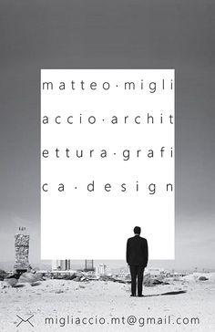 business card mio biglietti vista graphic design architecture grafica photo fotografia