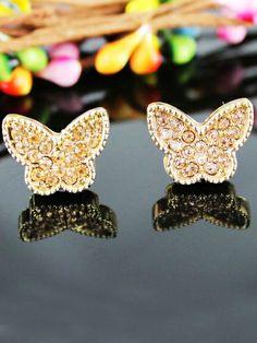 Pendientes mariposa strass EUR€6.25