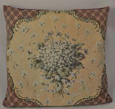 Vintage Tapestry Violets Decorative Pillow