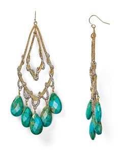Alexis Bittar Chrysocolla Orbiting Teardrop Vine Earrings | Bloomingdale's