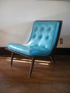 Vintage Aqua Blue bentwood Chair
