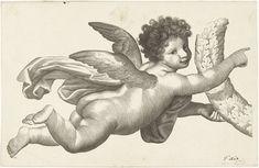 Lubertus Teunis van Deth   Zwevende putto met krans, Lubertus Teunis van Deth, 1824 - 1875  