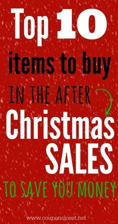 What to buy in the day after Christmas sales to save the most money. Some of them might surprise you.