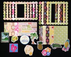 Tropical Island 30 lot Paper Embellishment  for by Turtlemom47.  I love these cut-outs for my shadow box and craft projects.  They are perfect accents when I do a customized project.