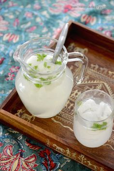 5 cups fresh coconut water (about 4 coconuts worth)  4 tablespoons lemon juice  4 tablespoons sugar  4-5 mint leaves, finely chopped  3/4 cup chopped tender coconut flesh, chopped