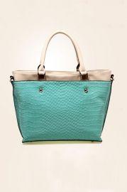 Stone Pattern Color Block Zipped Shoulder Bag - Bags/Purses