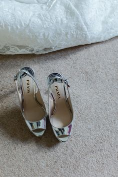 Silver Metallic Prada Shoes Bride Bridal Festival Tipi Bluebell Woods Wedding http://alexa-loy.com/