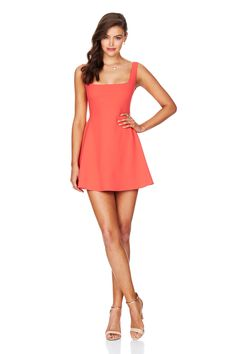 Coral Sweet Sensation Skater Dress : Buy Designer Dresses Online at Nookie