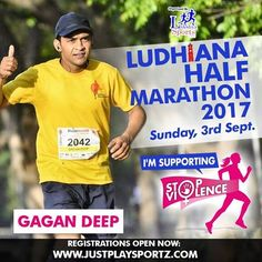 Let's Start A Movement 🙏🙏  Run with Gagan Deep in Ludhiana Half Marathon 2017 and commit to Fighting Gender Inequality and Discrimination which are the main root causes of violence against women.  #StopViolenceAgainstWomen
