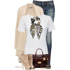 Plain White Tee for Fall by houston555-396 on Polyvore featuring moda, Cotton Citizen, Vince, Armani Jeans, Burberry, Mulberry, Samantha Wills, Tiffany & Co. and Emilio Pucci