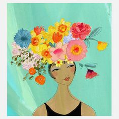 """Gayle Kabaker Romantic Prints Of Lovely Ladies """"Flowerhead 1"""" 16x20  now featured on Fab."""