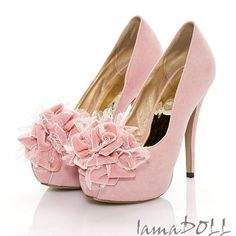 Rose Velvet Shoes (if given the opportunity to choose two types of shoes i'd pick velvet and lace--bah!)