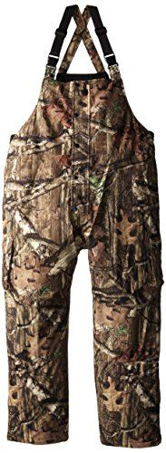Yukon Gear insulated waterproof breathable bib overalls.  Mossy Oak Infinity camo pattern. Features 240 gram 100% polyester tricot with 8000/800 WPB PU lamination. 100% poly-fill insulation. Featur...