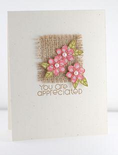 Preciosa y sencilla tarjeta. Ideal para hacer un gran número, muy elegante.