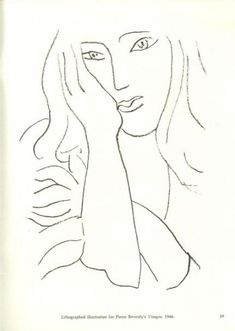 Ideas Drawing Woman Face Henri Matisse For 2019 Henri Matisse, Matisse Kunst, Matisse Drawing, Matisse Paintings, Picasso Drawing, Matisse Art, Pablo Picasso, Oil Paintings, Matisse Tattoo