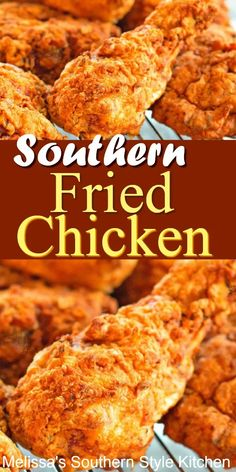 cajun dishes Juicy and crispy Southern Fried Chicken Best Fried Chicken Recipe, Easy Chicken Recipes, Meat Recipes, Cooking Recipes, Game Recipes, Crispy Chicken Batter Recipe, Roasted Chicken, Froed Chicken, Popeyes Fried Chicken