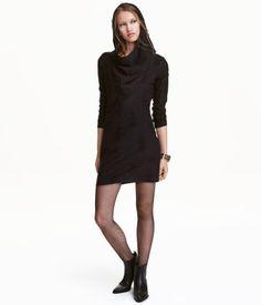 Stickad klänning | Svart | Dam | H&M SE