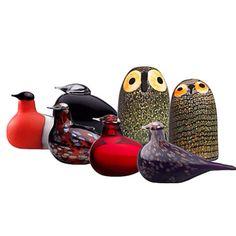 Buy Iittala Toikka Birds Little Barn Owl from our Ornaments range at John Lewis & Partners. Sculpture Art, Sculptures, Birds Online, Be Design, Little Barn, Bullfinch, Glass Birds, Painted Paper, Glass Collection