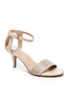New Directions Blush Emily Perforated Dress Sandal