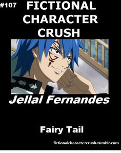 Aw yeas jellal he's cute and all but he belongs with Erza