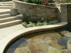 pool coping ivory color old world