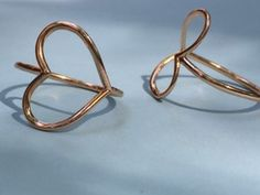 Infinity Heart Ring  (Size 6) in 14k Rose Gold Plated