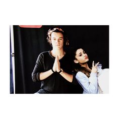 Happy Holidays ❤ liked on Polyvore featuring one direction, ariana grande, ariana, hariana and harry styles
