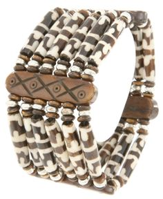 Bombay Bongo Unique Gifts - Handmade Indian Wood Resin Bead Stretch Bracelet, $29.99 (http://www.bombaybongo.com/handmade-indian-wood-resin-bead-stretch-bracelet/)