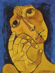 Untitled By Oswaldo Guayasamín ,1982