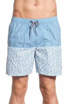 ecbf710eb6 Imperial Motion 'Zuric' Colorblock Print Swim Trunks Men's Swimsuits,  Swimwear, Vacation Style