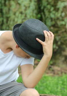 Joshua Photo Shoot With Fedora Hat  #joshuagrugin #jerrygrugin #keymomentsphotographybyjandg