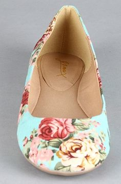 Floral Flats for the dancing