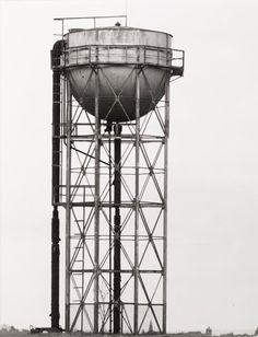 "Bernd and Hilla Becher, ""(Water Tower, ca 1920, Liege, Belgium), from the portfolio Industriebauten (Industrial Buildings)"" (1968) | photograph | gelatin silver print    Source: http://www.sfmoma.org/explore/collection/artwork/117101#ixzz1jC2v2ucE   San Francisco Museum of Modern Art"