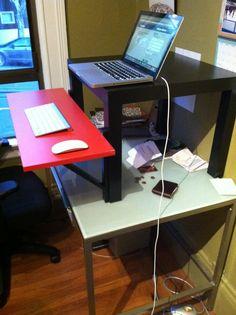 IKEA hack: the $22 standing desk DIY. Via @Yahoo! Homes