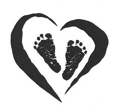 Something like this with Allie's newborn footprints inside.