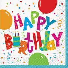 aae1e6b33512 Birthday Jamboree Luncheon Napkins