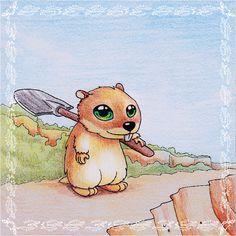 Eine #Illustration für #Kinder von Christina Busse www.christinabuss... für die #Kurzgeschichte 'Der kleine Lemming' von Silke Winter.