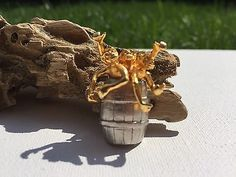 Barrel Of Monkeys Pin In Gold And Silver Tone  | eBay